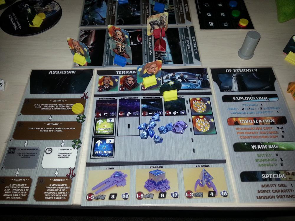 Przykładowe ułożenie frakcji gracza ( obrazek z BBG nie przedstawia finalnej wersji gry )